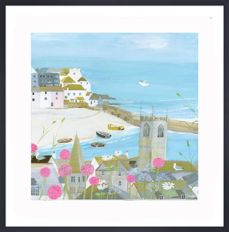 Above the Harbour Art Print by Hannah Cole