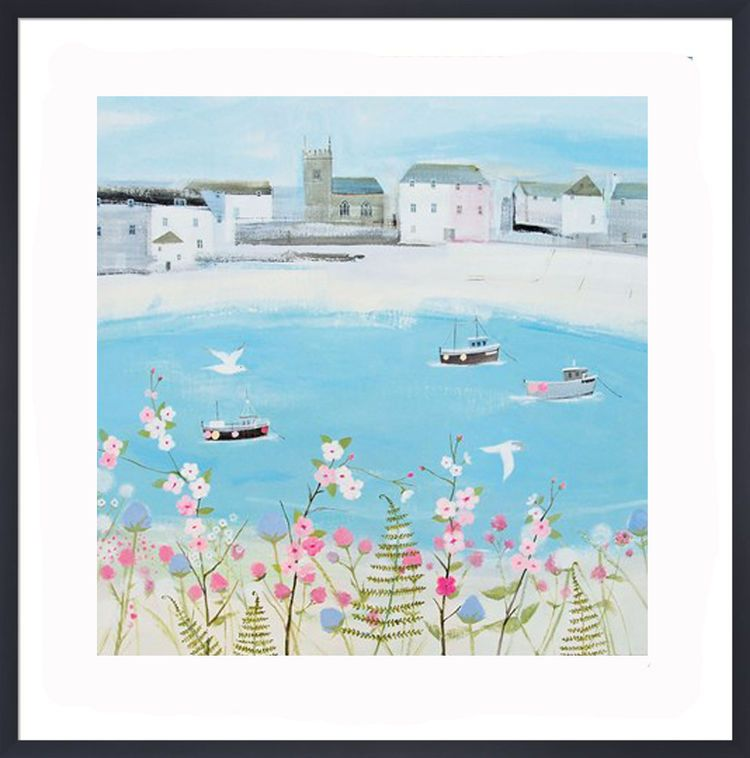 Harbour Boats Art Print by Hannah Cole