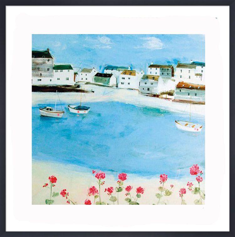 Pink Geraniums Art Print by Hannah Cole