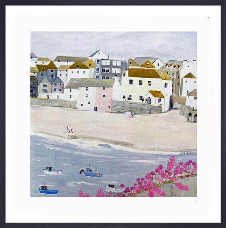 Harbour Beach Art Print by Hannah Cole