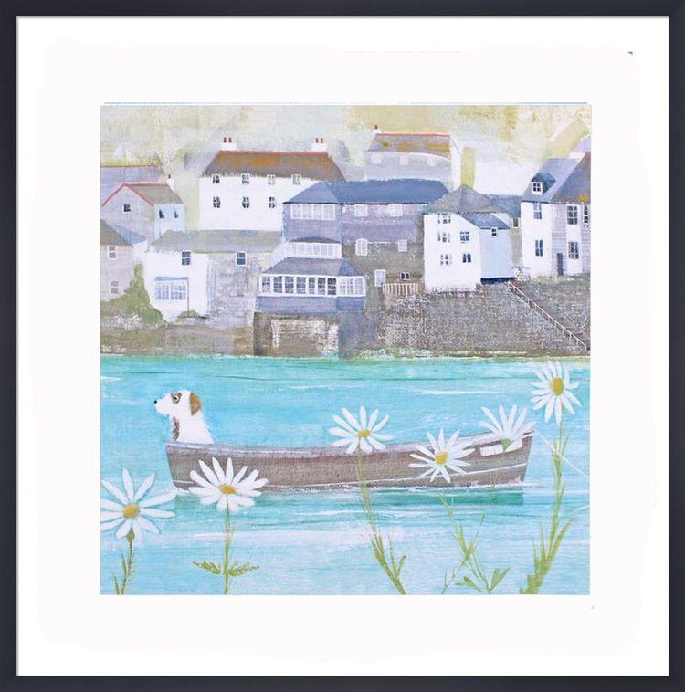 Sailing Through the Daisies Art Print by Hannah Cole