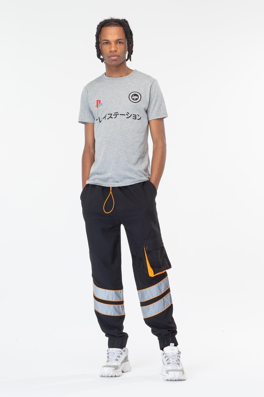 Hype Playstation Grey Dual Logo Mens T-Shirt