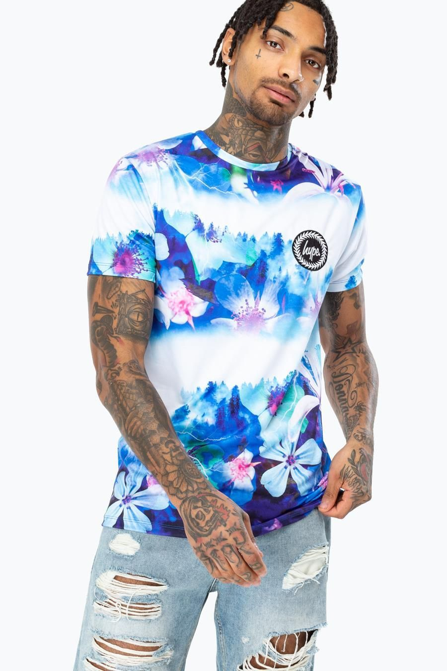 Hype Midnight Forest Mens T-Shirt
