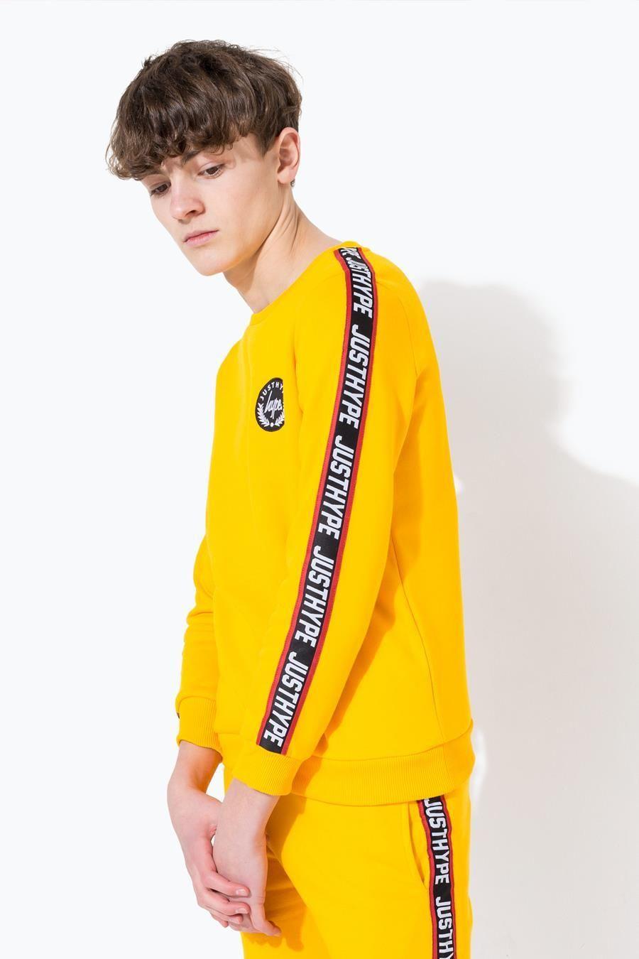 Hype Yellow Taylor Tape Kids Crewneck