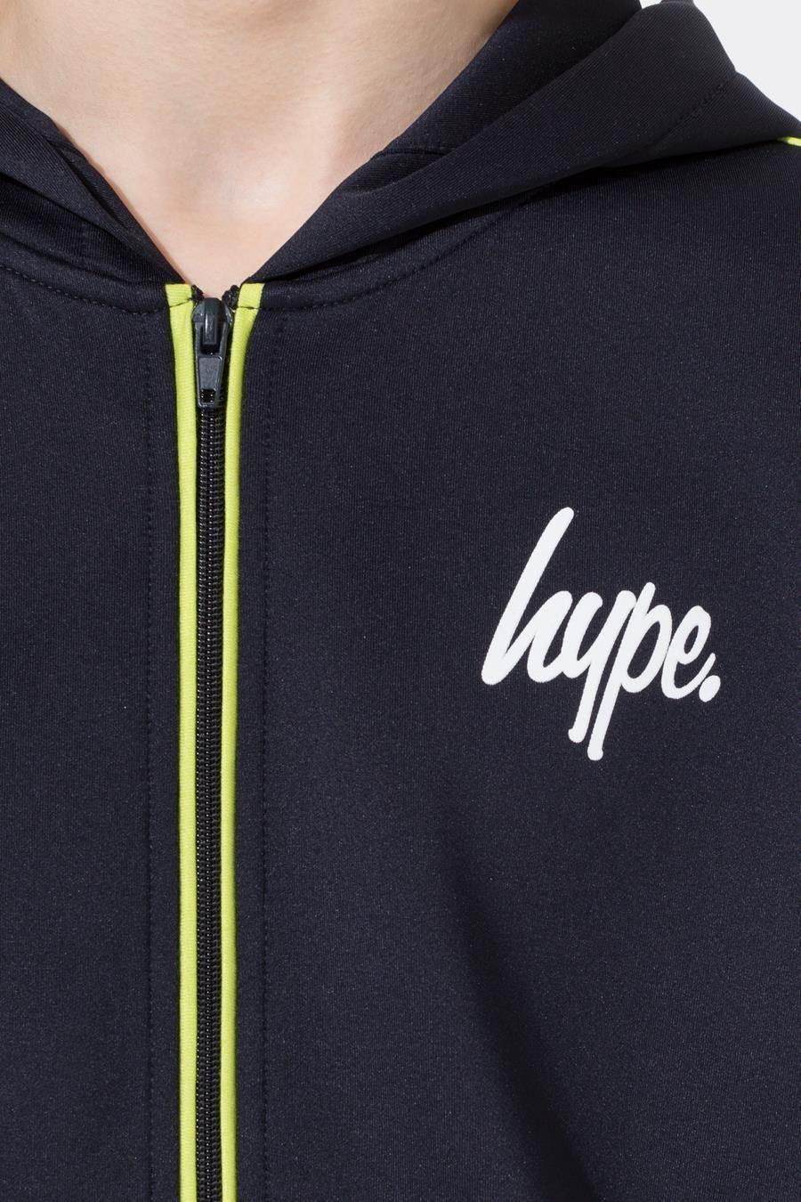 Hype Navy Mini Script Stripe Kids Track Jacket