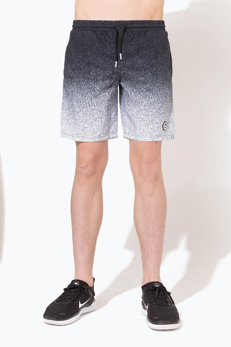 Hype Black Speckle Fade Kids Swim Shorts