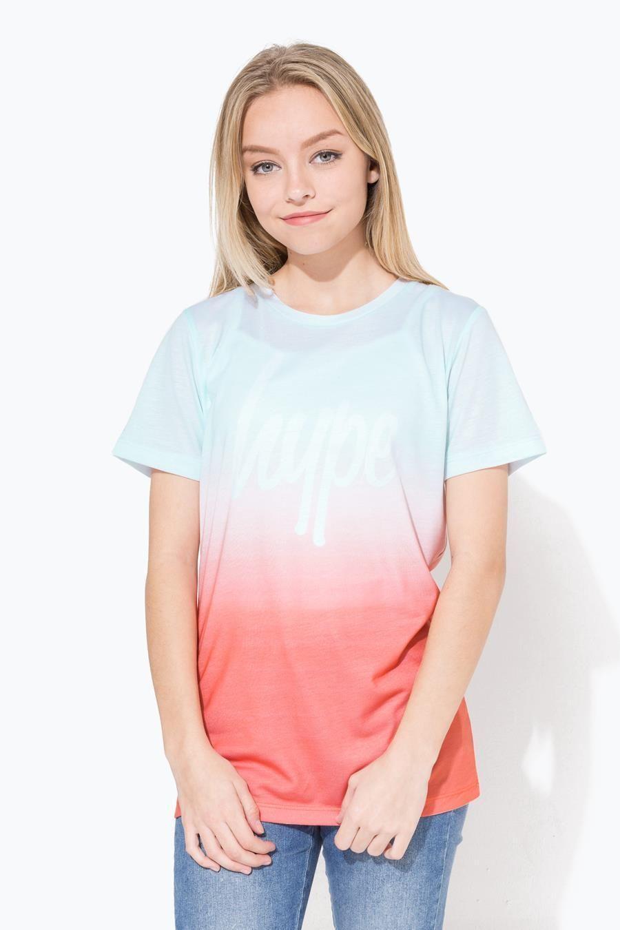 Hype Pink Spring Sky Fade Script Kids T-Shirt