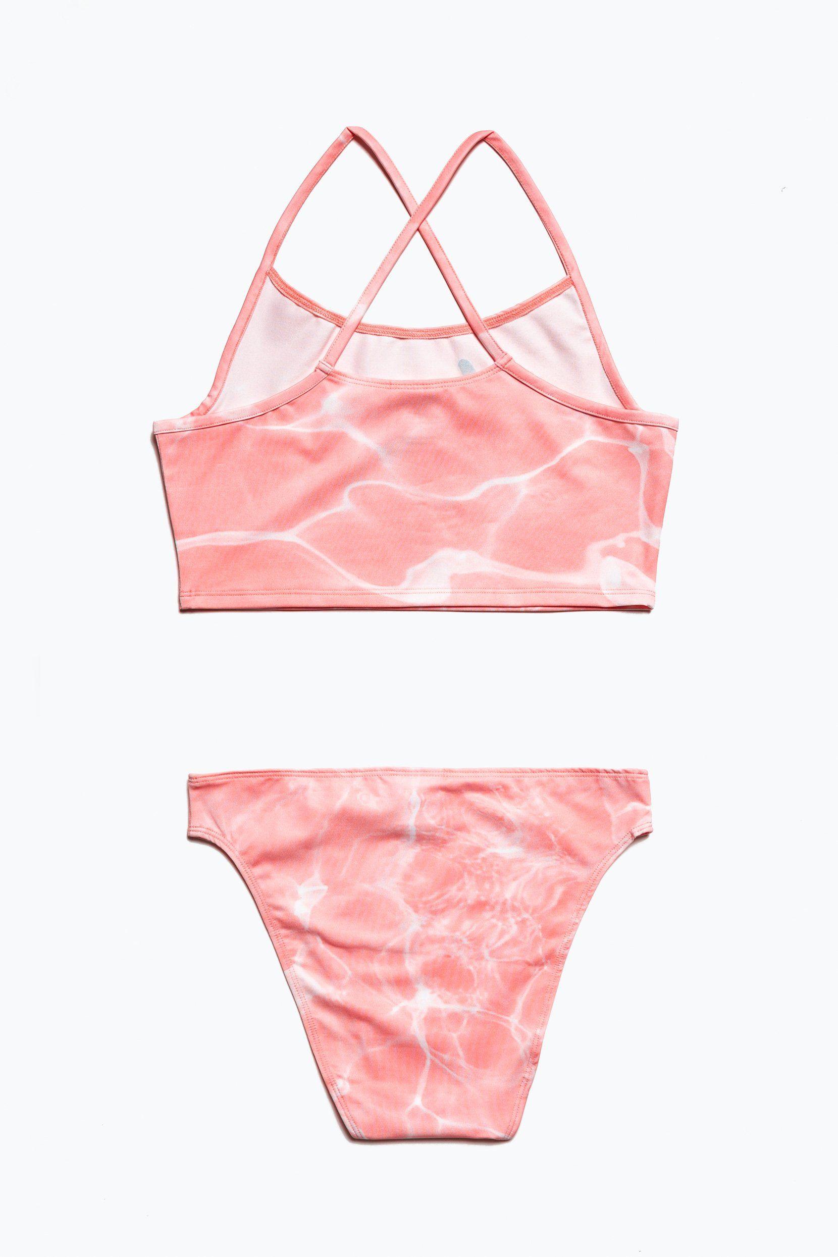 Hype Pink Pool Kids Bikini Set
