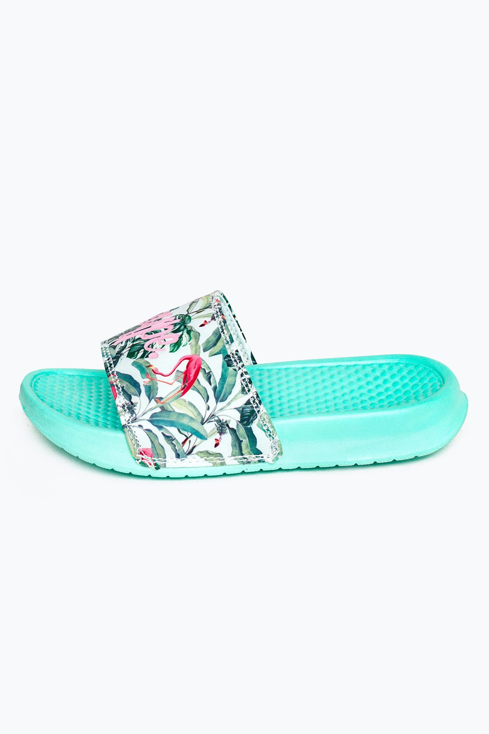 Hype Mint Flamingo Paradise Kids Sliders