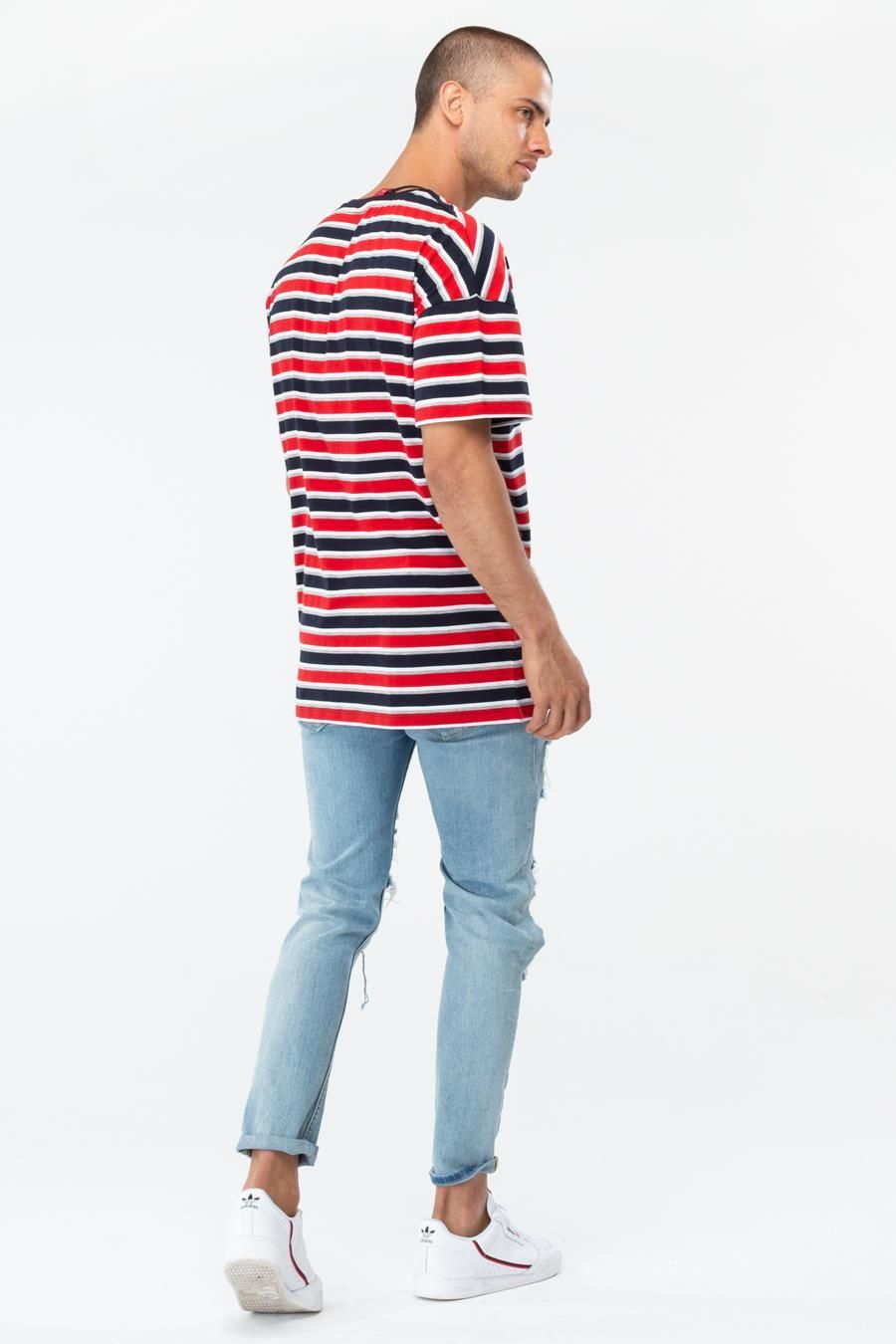 Hype Budweiser Striped Mens Oversized T-Shirt
