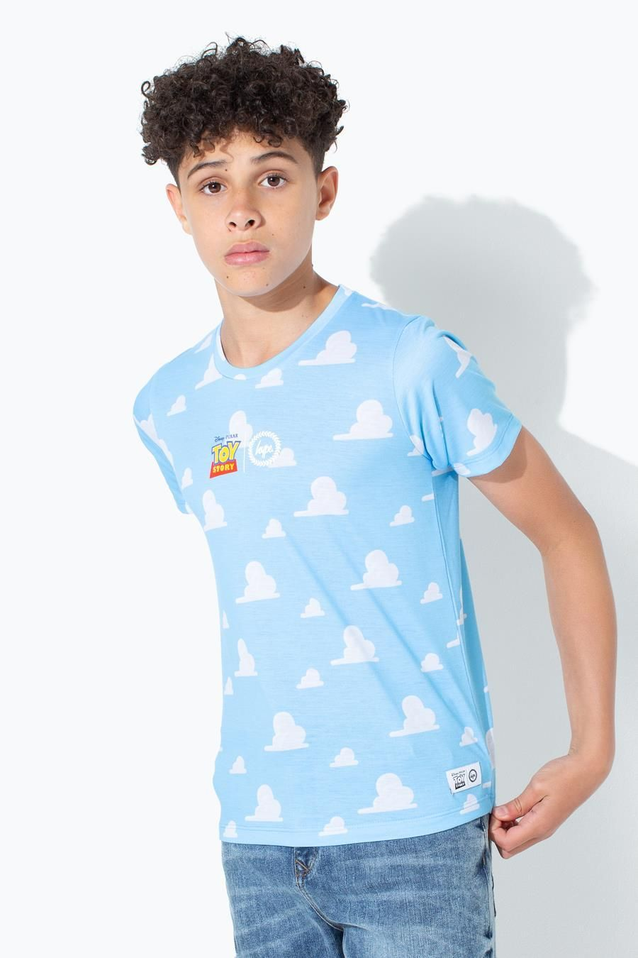Hype Toy Story Blue Clouds Dished Hem Kids T-Shirt