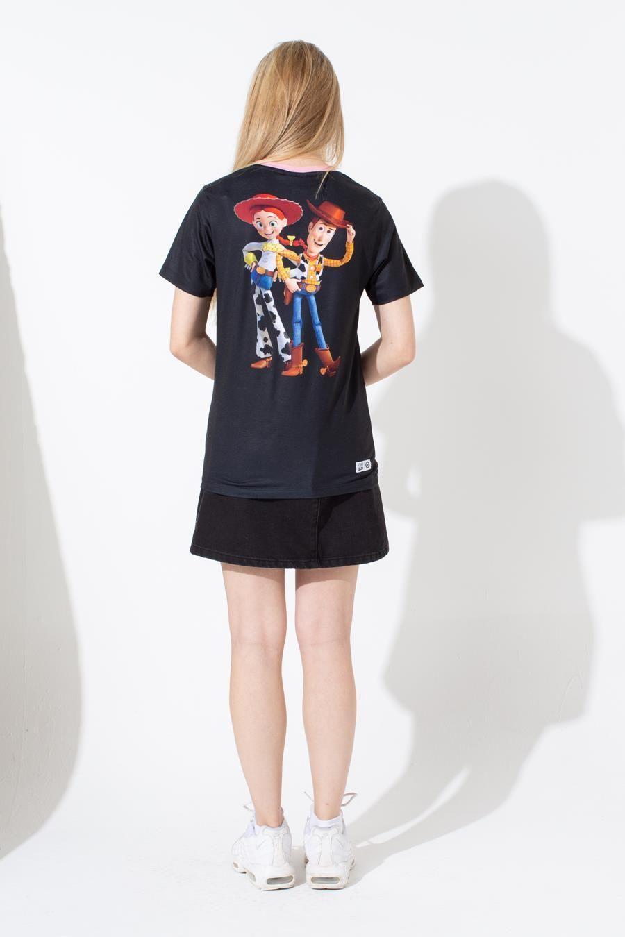 Hype Toy Story Black Western Ringer Kids T-Shirt