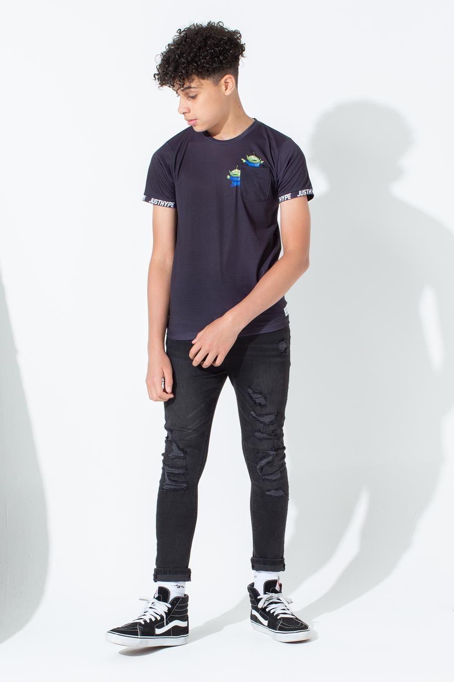 Hype Toy Story Black Aliens Pocket Kids T-Shirt