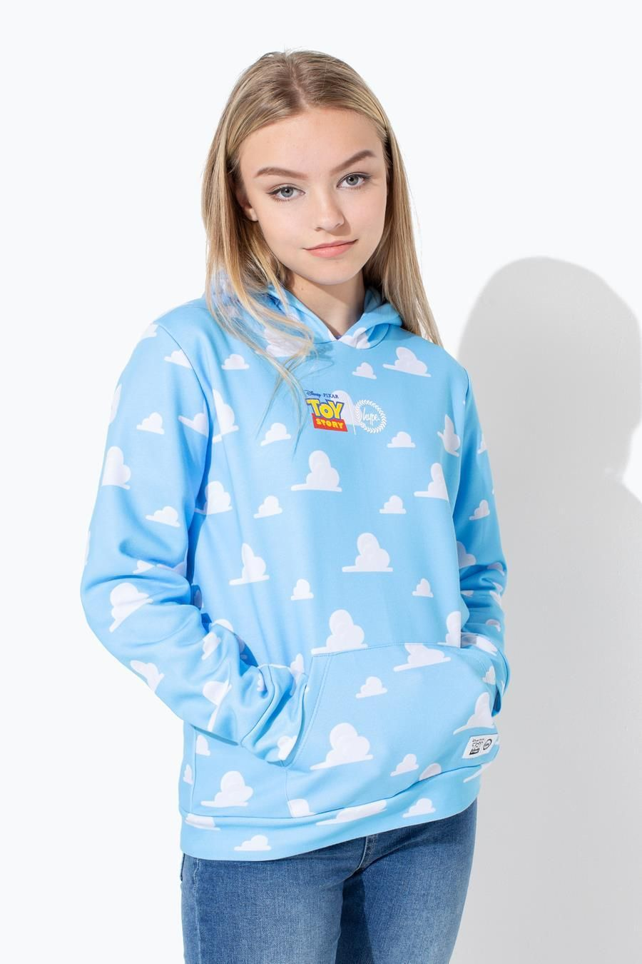 Hype Toy Story Blue Clouds Kids Pullover Hoodie