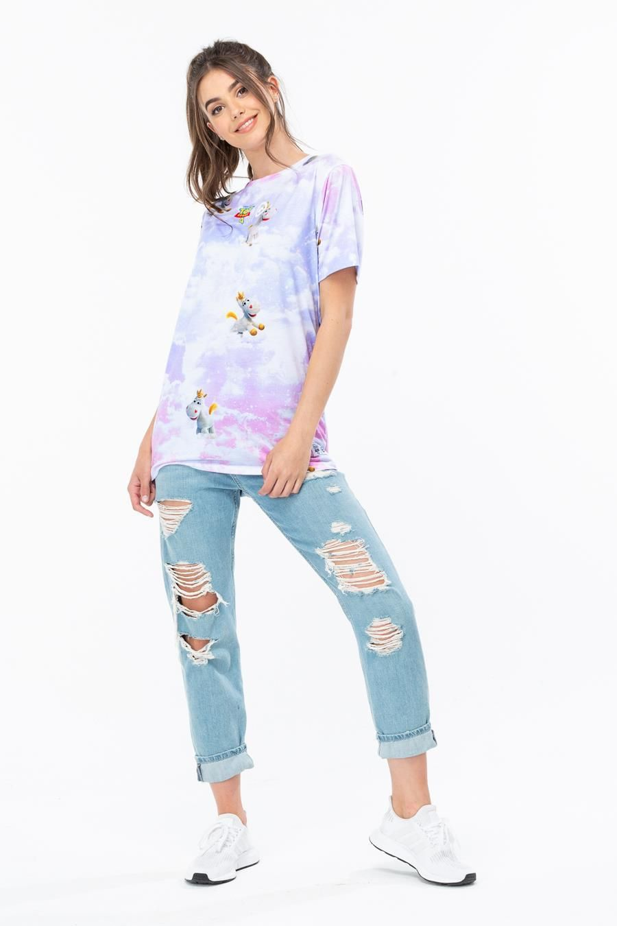 Hype Toy Story Pink Buttercup Skies Womens T-Shirt