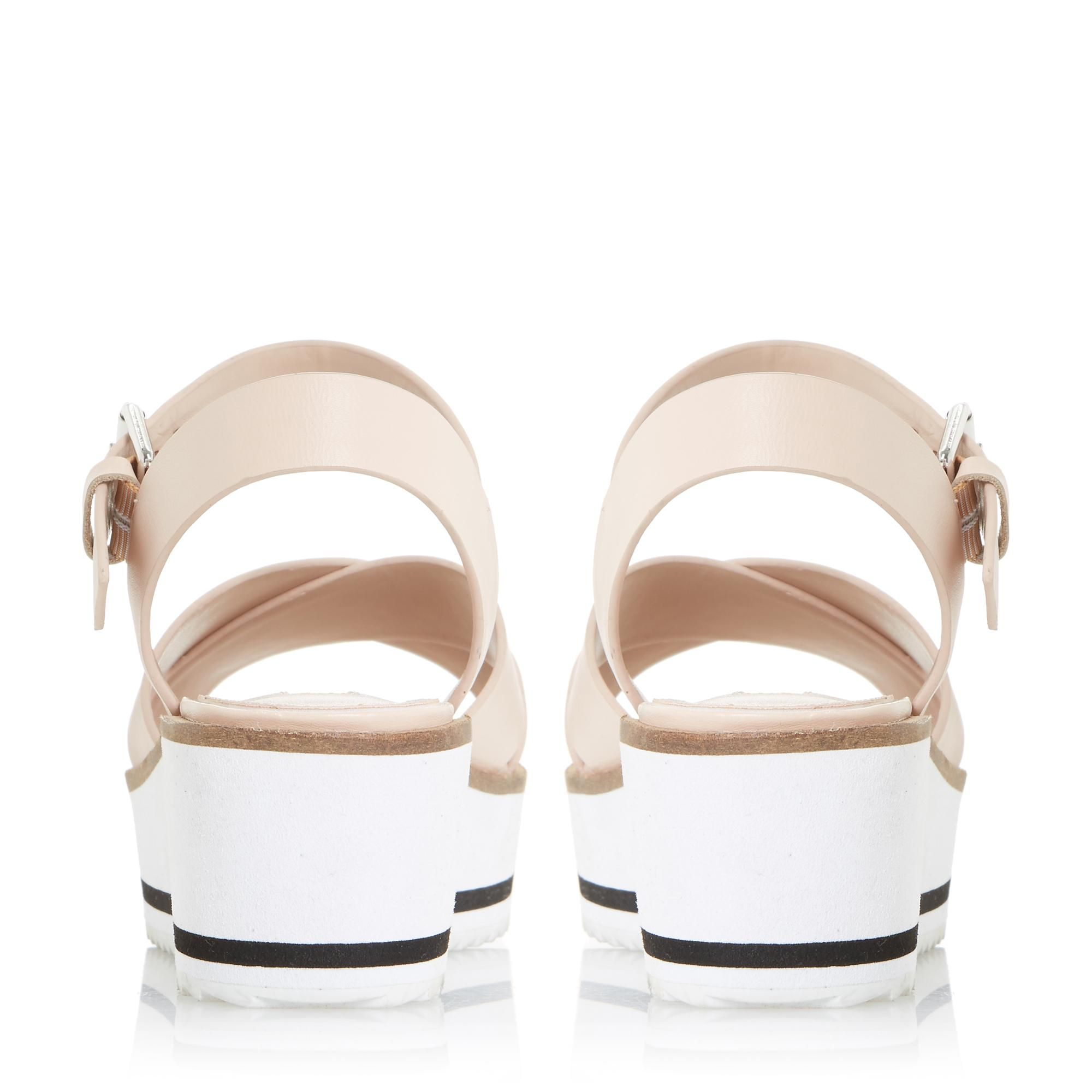 Dune Ladies KASSIUS White Eva Shark Sole  Flatform Sandals