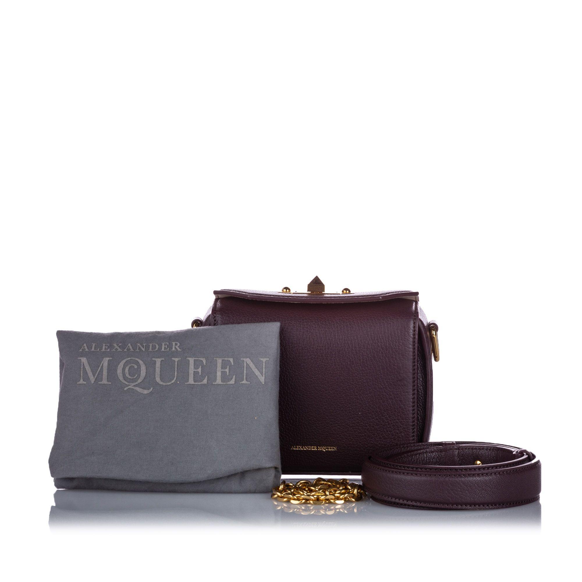 Alexander McQueen Box 16 Leather Crossbody Bag Red