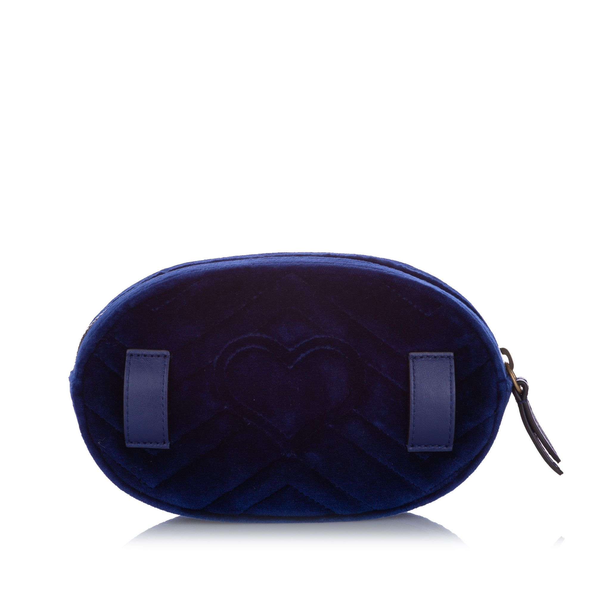 Gucci GG Marmont Velvet Belt Bag Blue