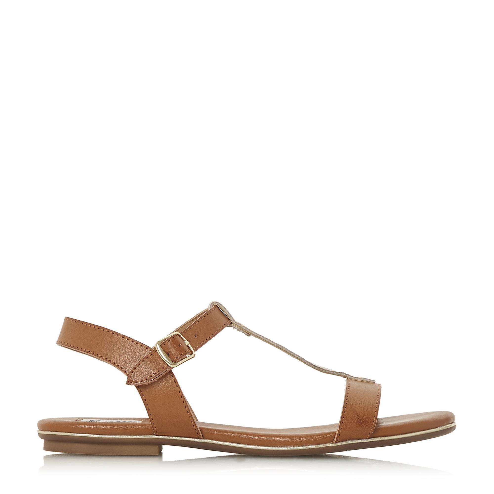 Dune Ladies LADDER Cross Strap Flat Sandals
