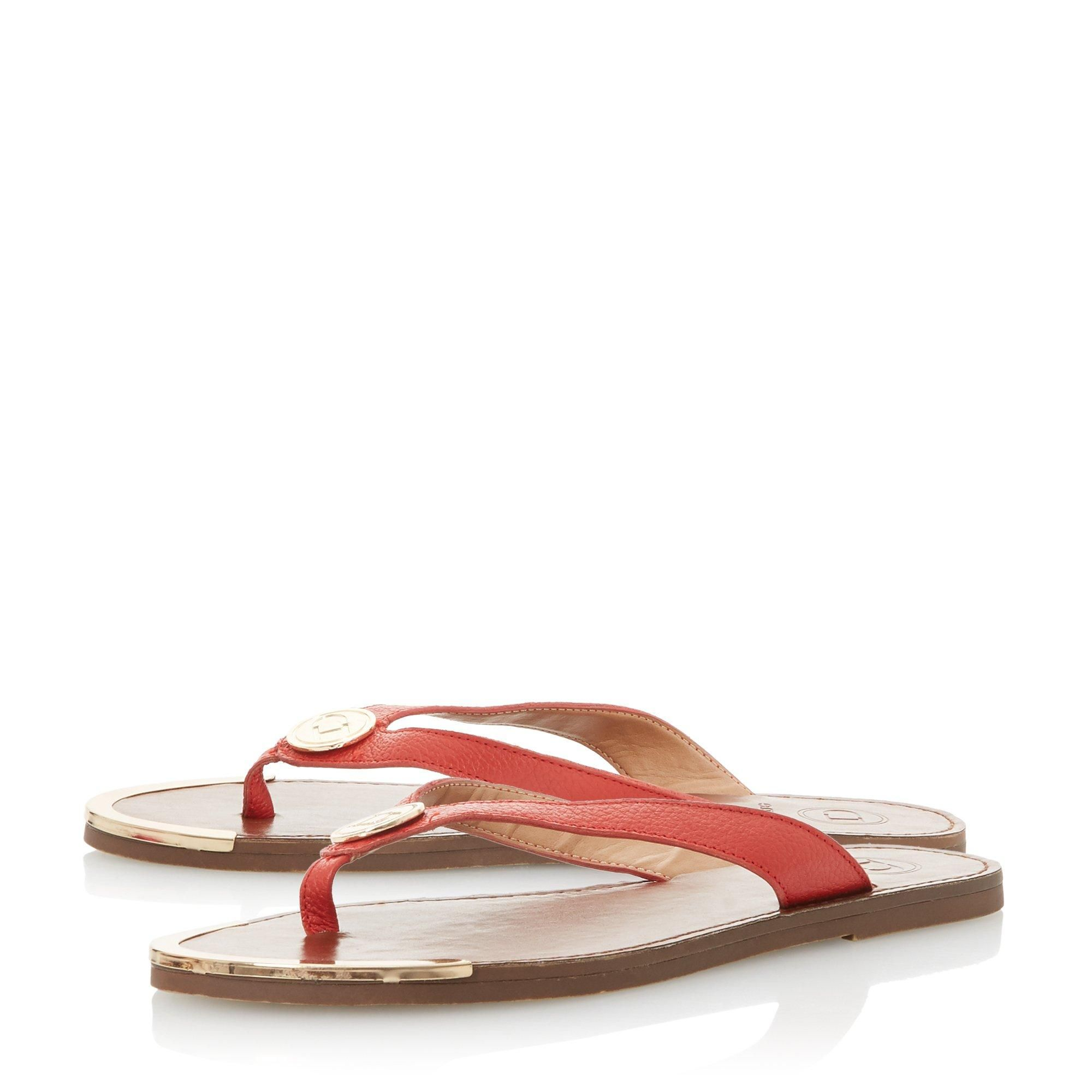 Dune Ladies LAGOONS Metal Trim Toe Post Sandal