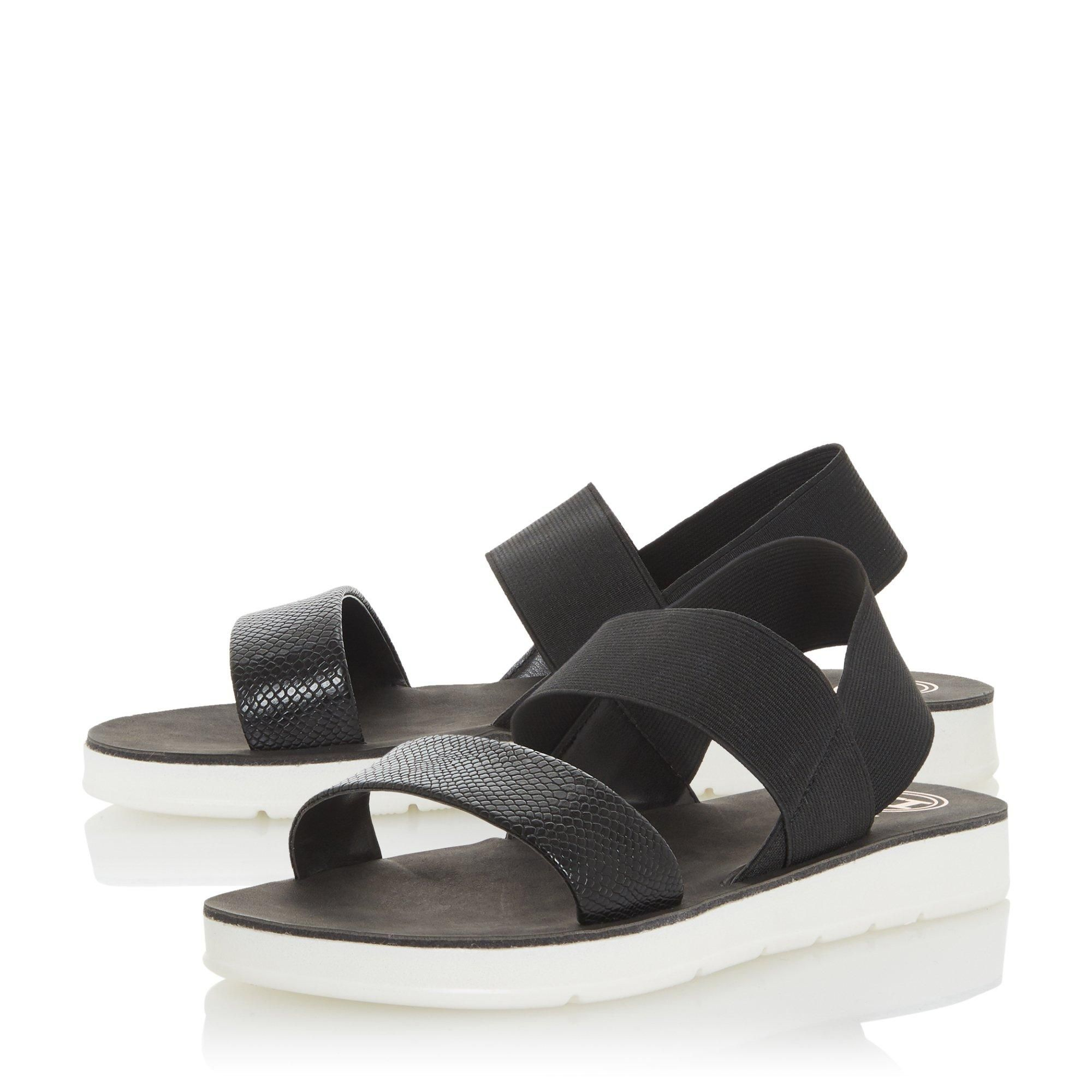 Dune Ladies LENIA Double Strap Slingback Sandals