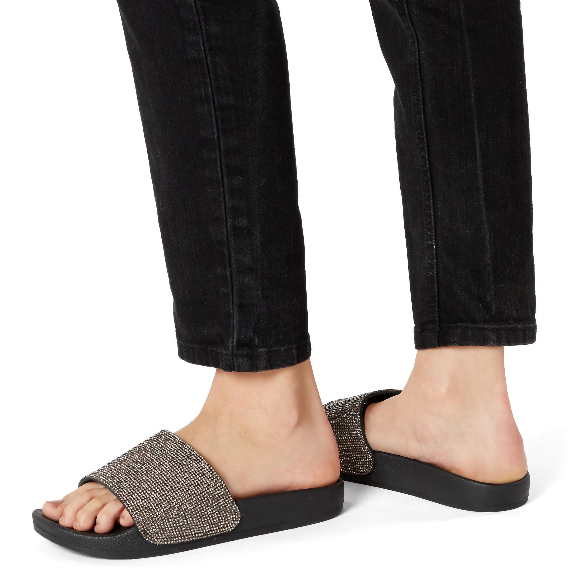Dune Ladies LIPSTICK Diamante Slider Sandals