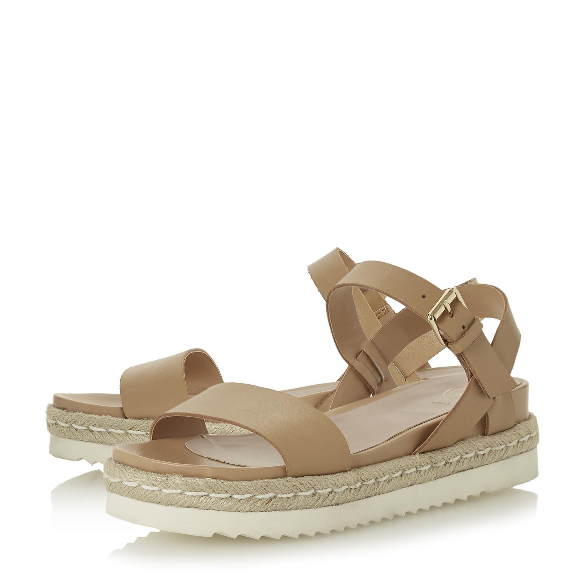 Dune Ladies LISSY Two Part Espadrille Wedge Sandals
