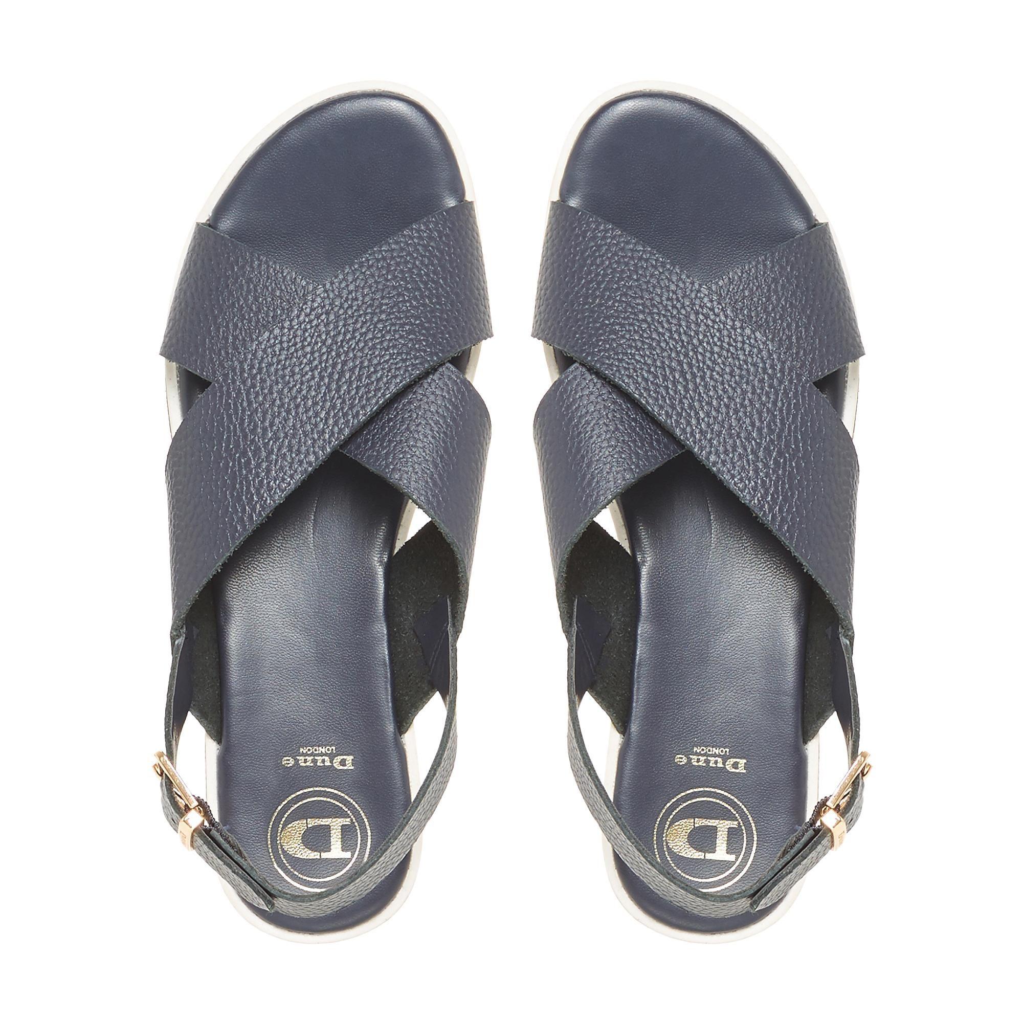 Dune Ladies LORDE Cross Strap Flat Sandals