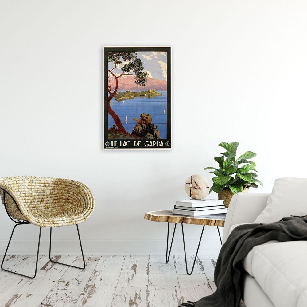 Vintage Tourist Poster - Metal Print  - Le Lac De Garda