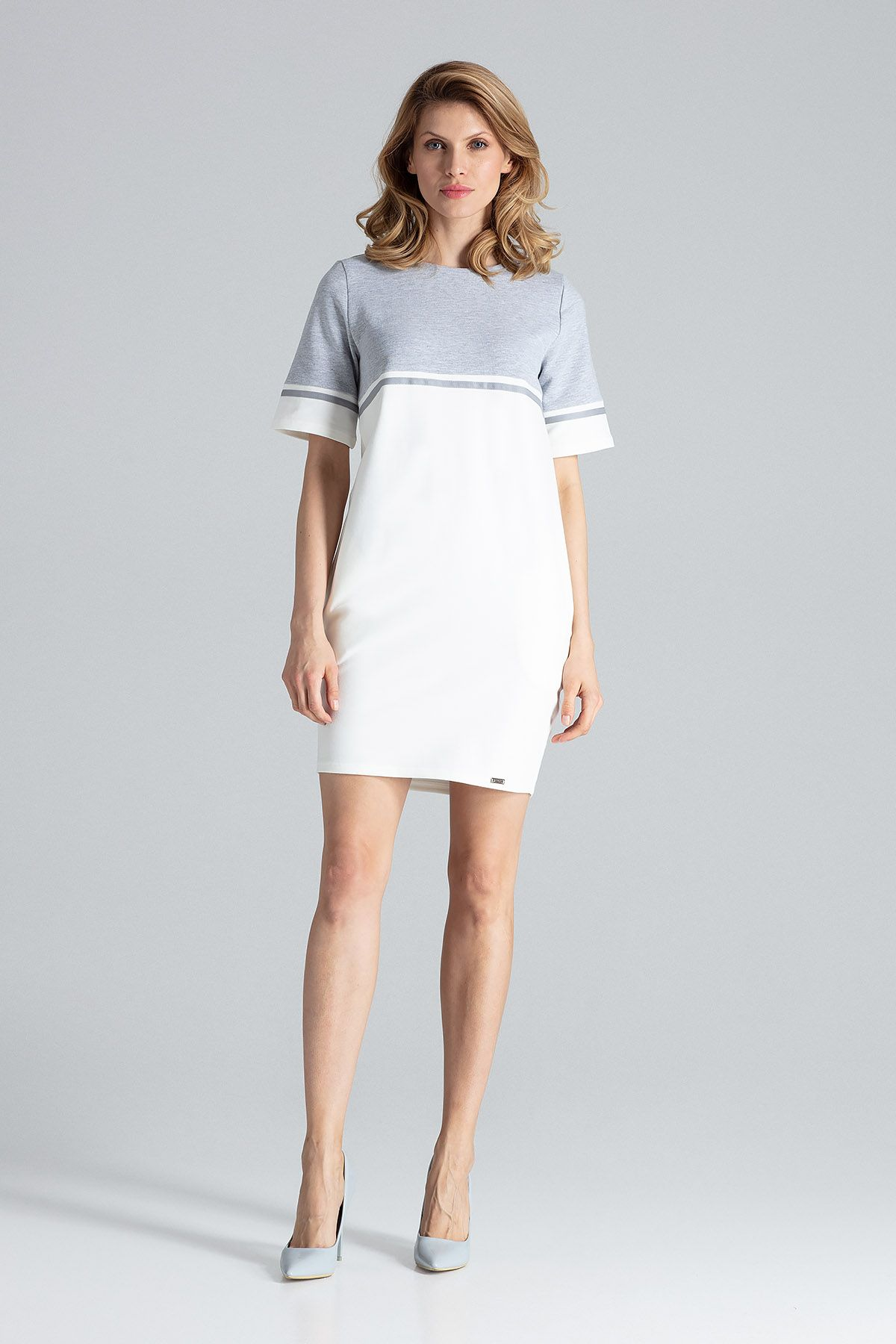 White Comfy Cotton Mini Dress