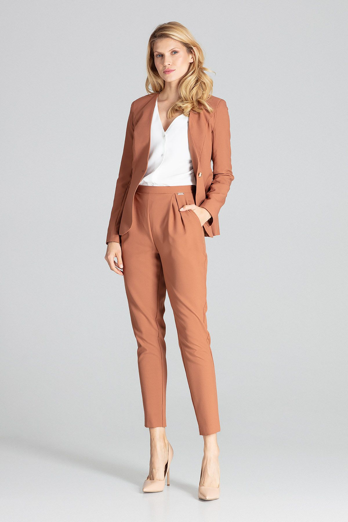Brown Classic Trousers
