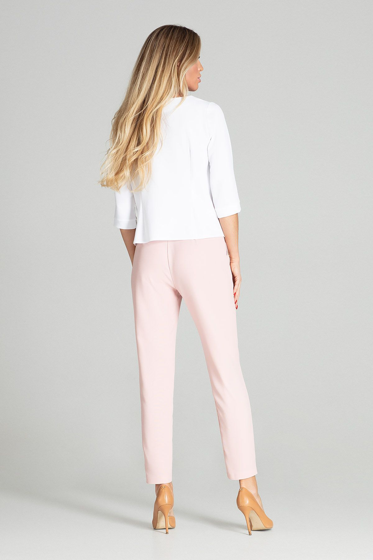 Light Pink Tapered Trousers