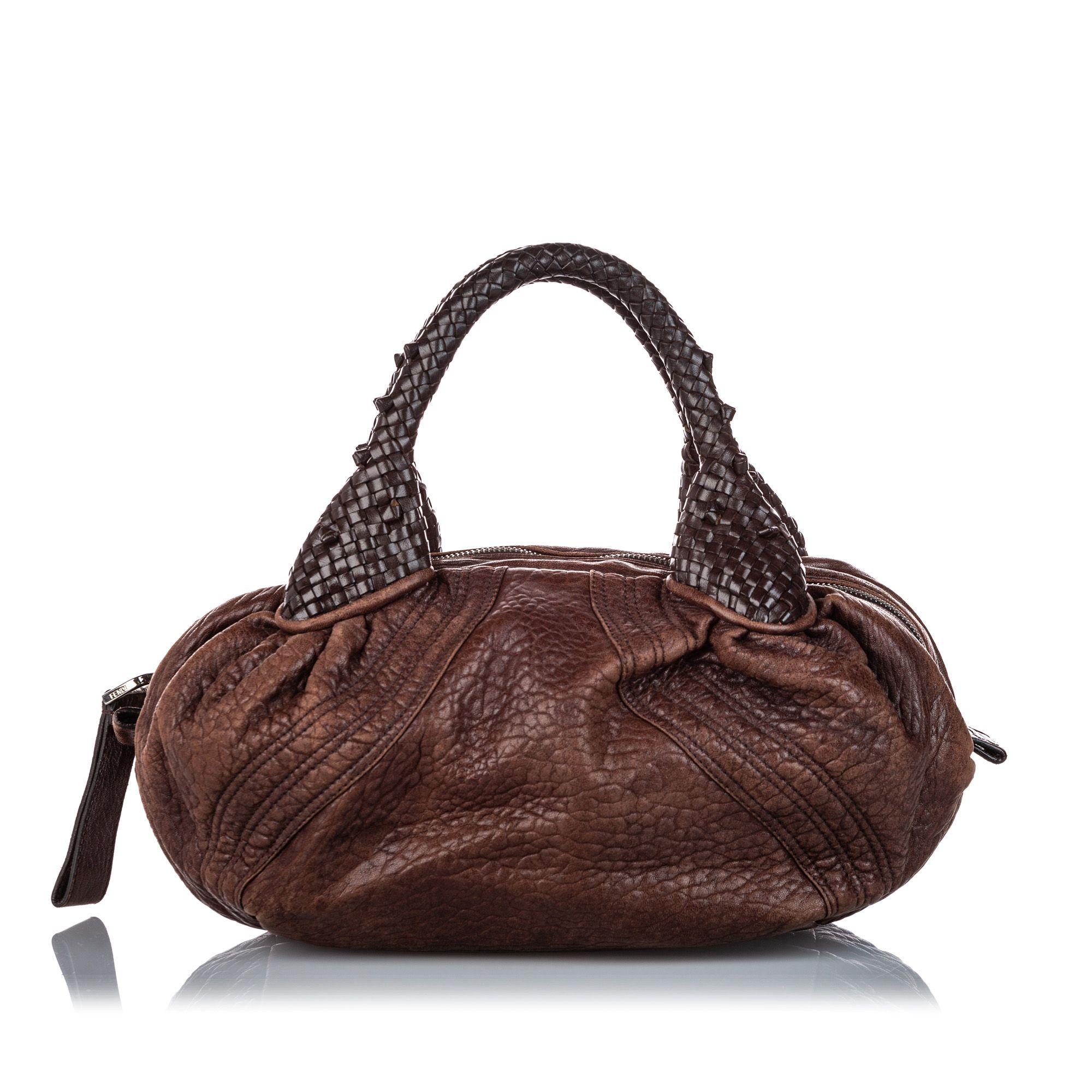 Vintage Fendi Leather Mini Spy Brown