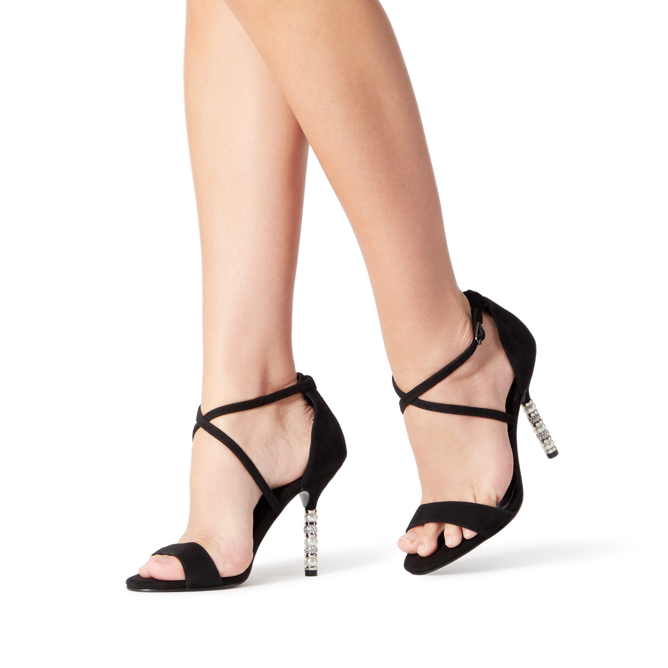 Dune Ladies MALIBU Crystal Embellished High Heel Sandal
