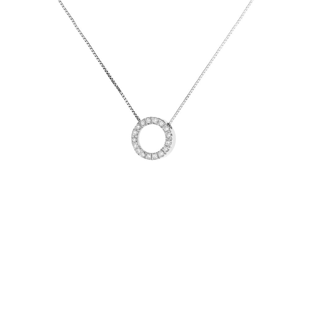 DIADEMA - Necklace with Diamonds - White Gold