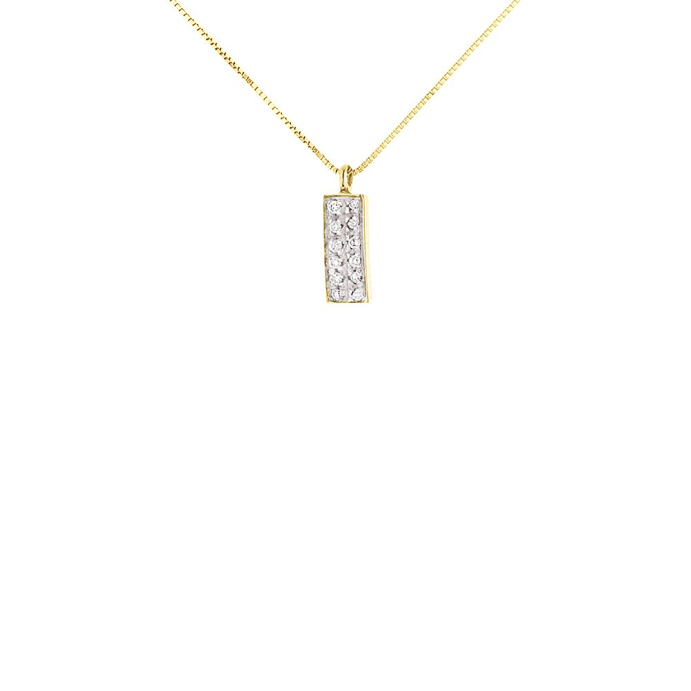 DIADEMA - Necklace with Diamonds - Yellow Gold