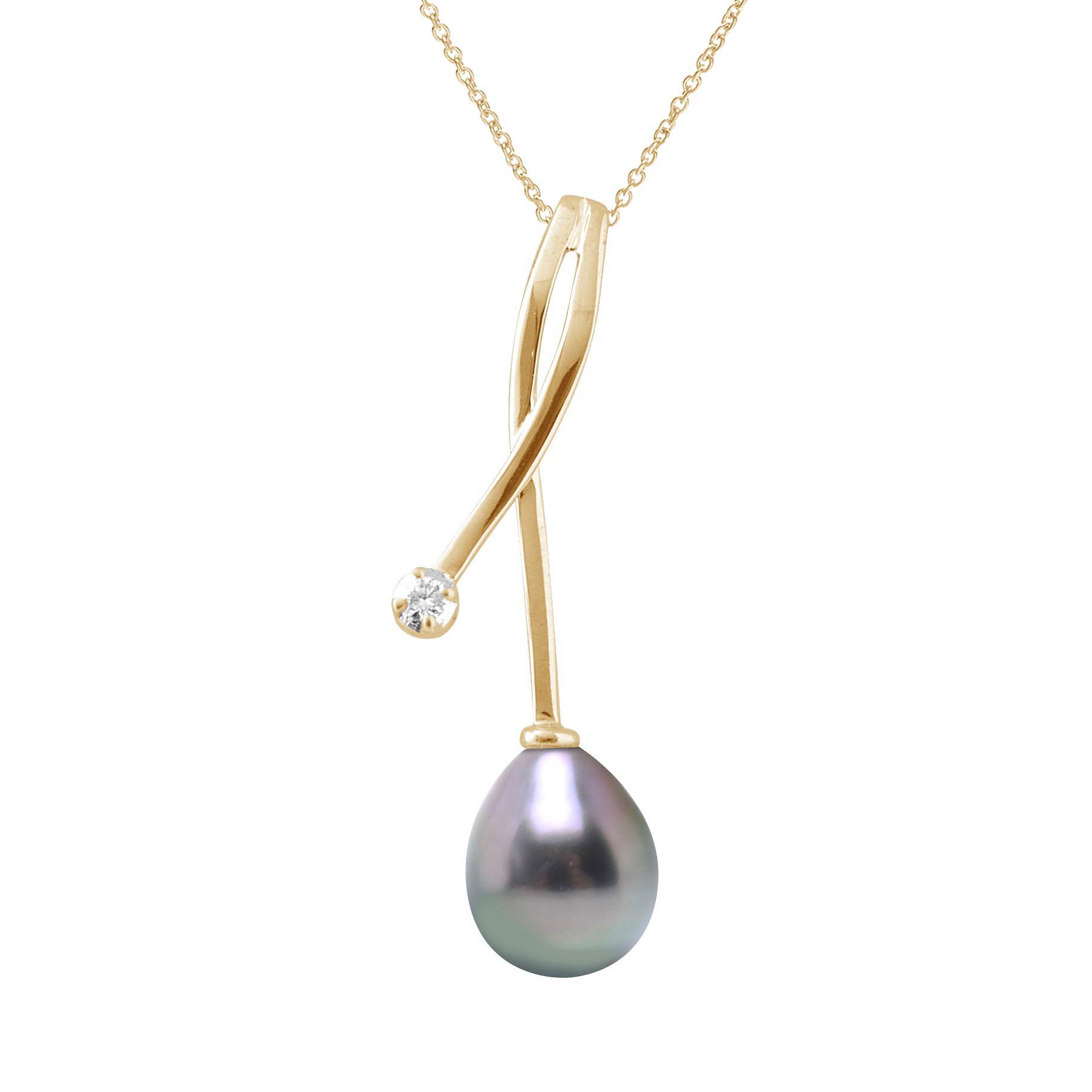 DIADEMA - Pendant - Yellow Gold and Tahitian Pearl