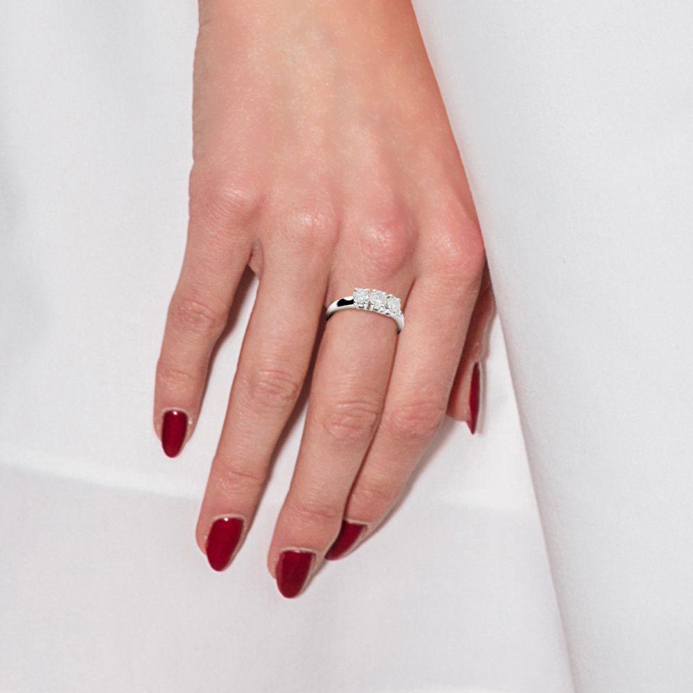 DIADEMA - Ring - Trilogy Diamonds - White Gold