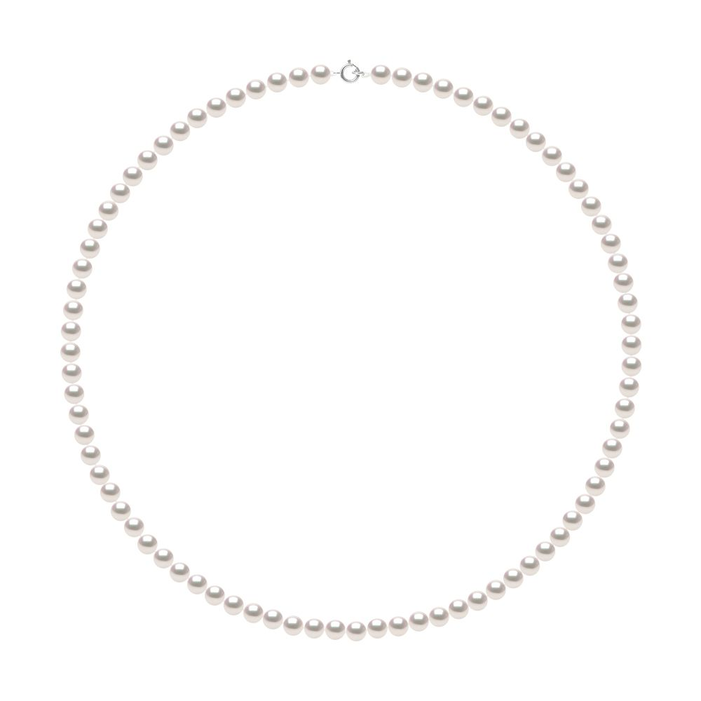 DIADEMA - Necklace - Real Japanese Akoya Cultured Pearl - White Gold