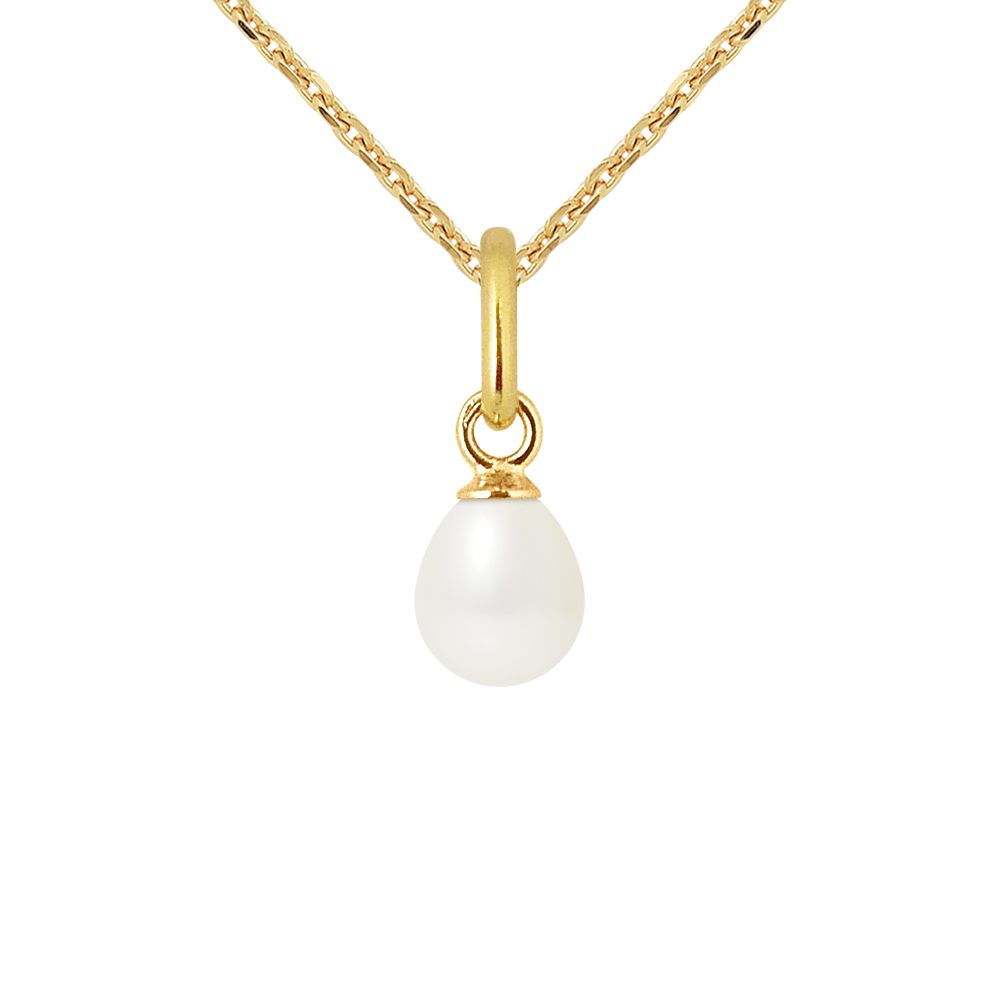 DIADEMA - Pendant - Yellow Gold and Real Freshwater Pearls