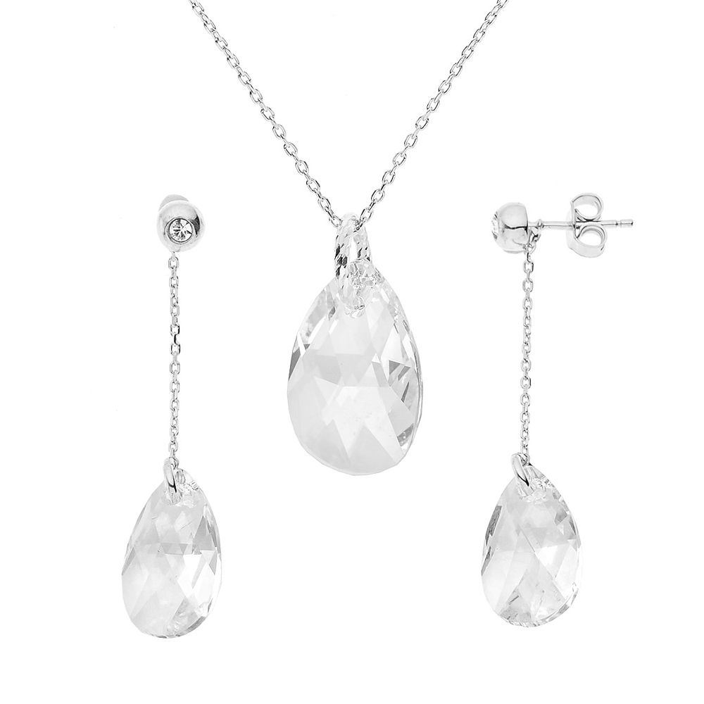DIADEMA - Set Forever Swarovski - Necklace, Earrings - Love Jewelry Collection