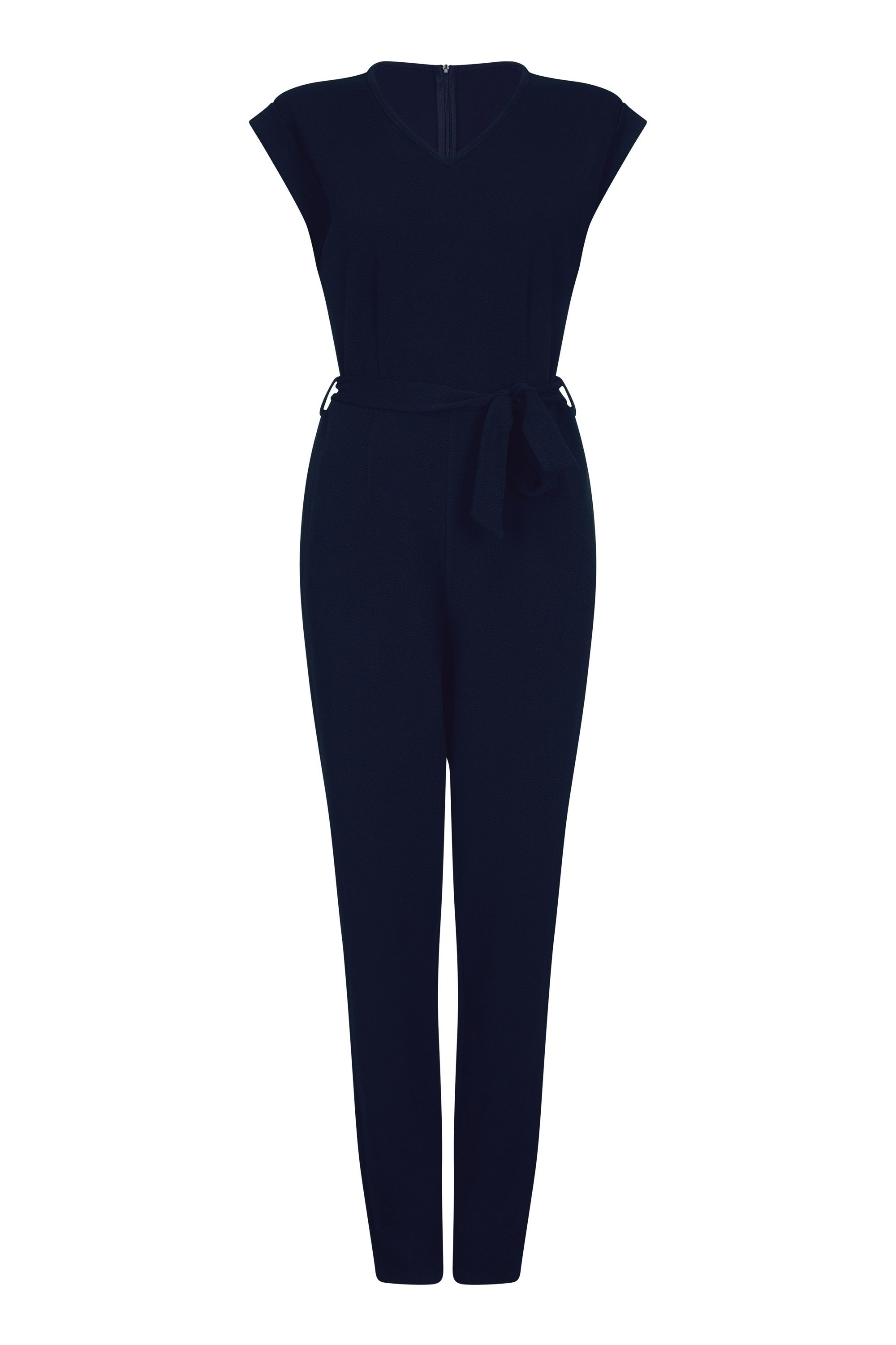 Capped Sleeve Jumpsuit