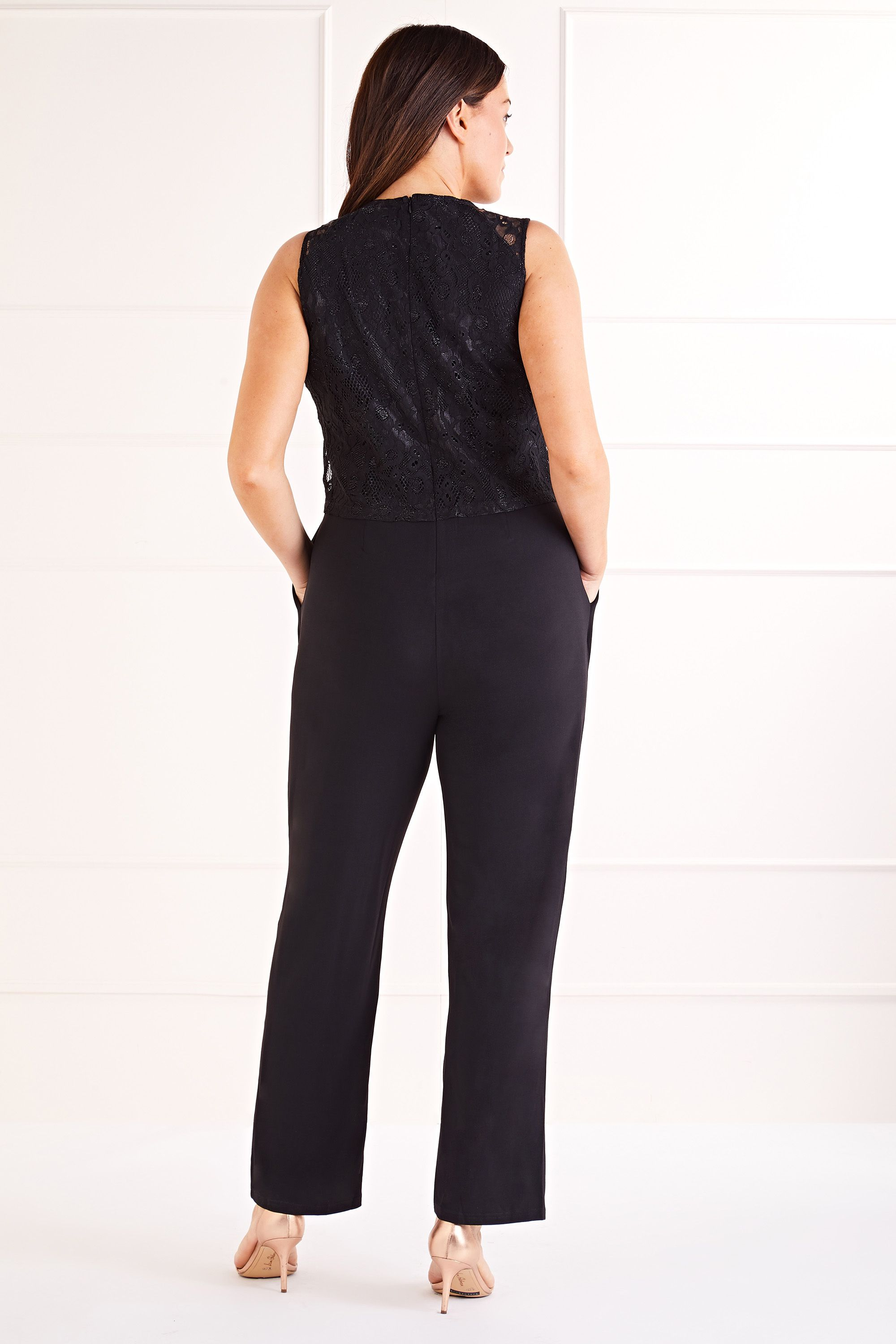 Lace Top Overlay Jumpsuit
