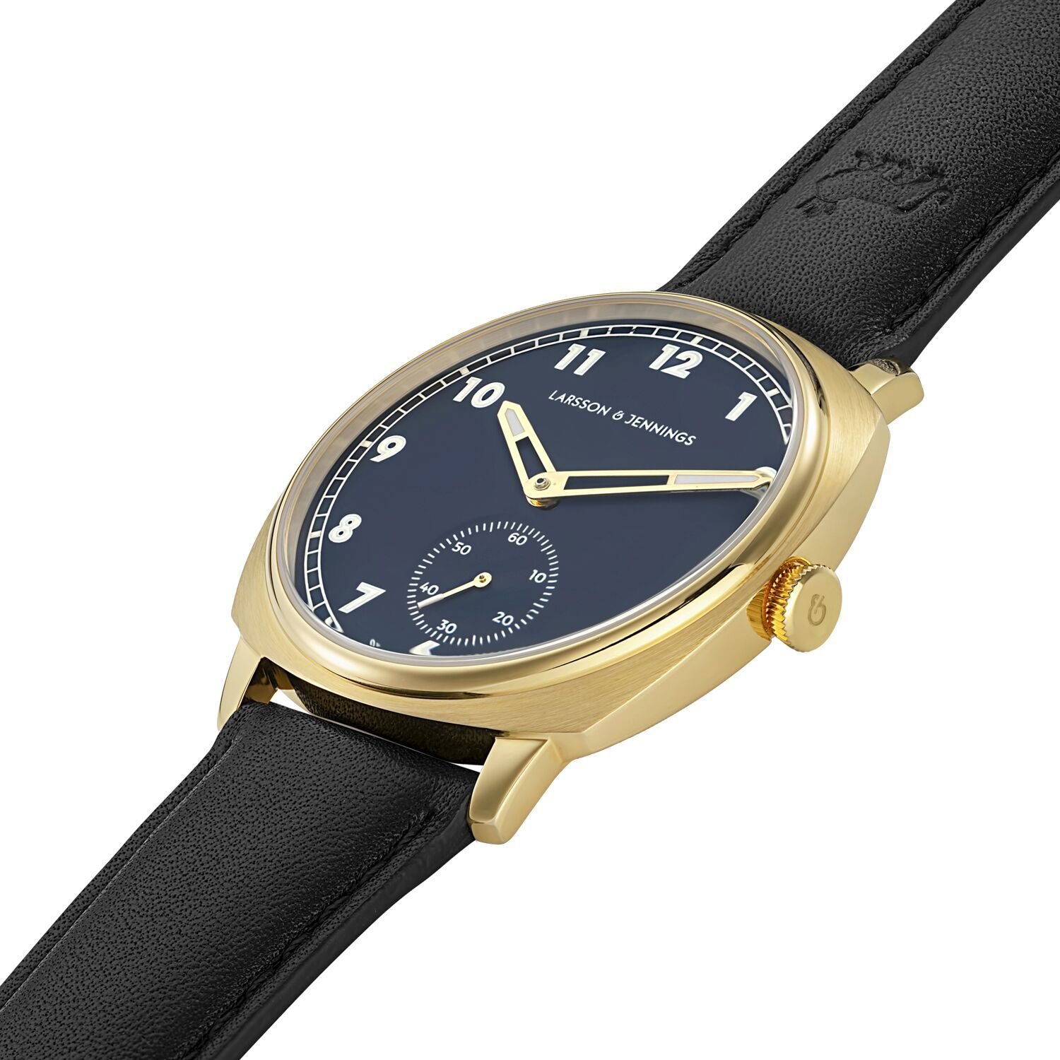 Meridian Leather 38mm Gold Navy