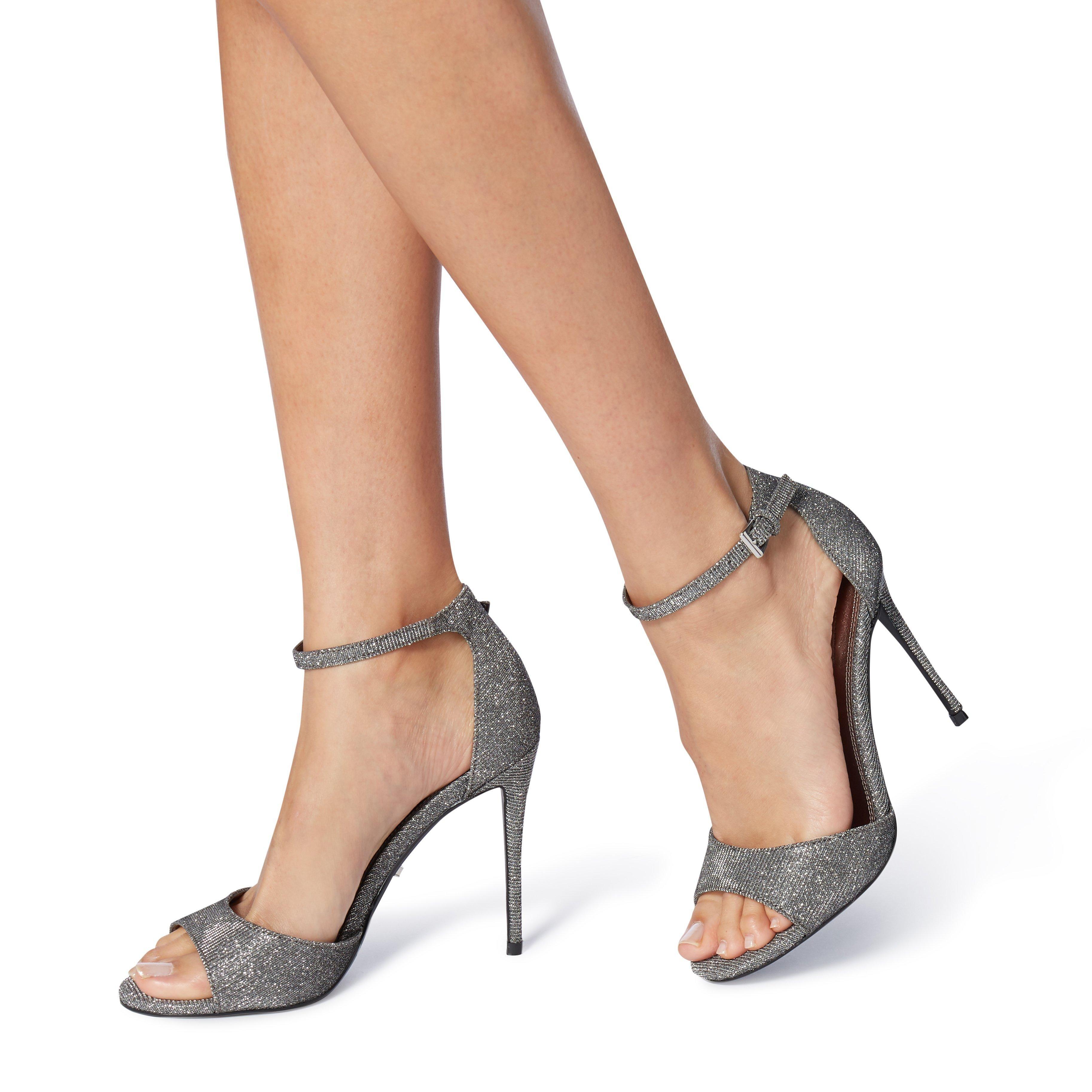 Dune Ladies MIDNIGHTE Lurex Two Part Sandal