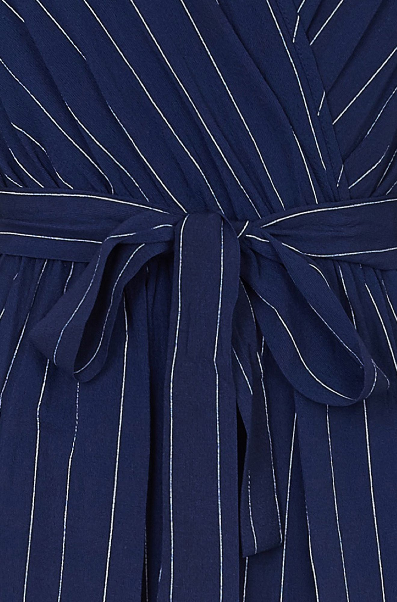 Navy Tie Sleeve Jumpsuit