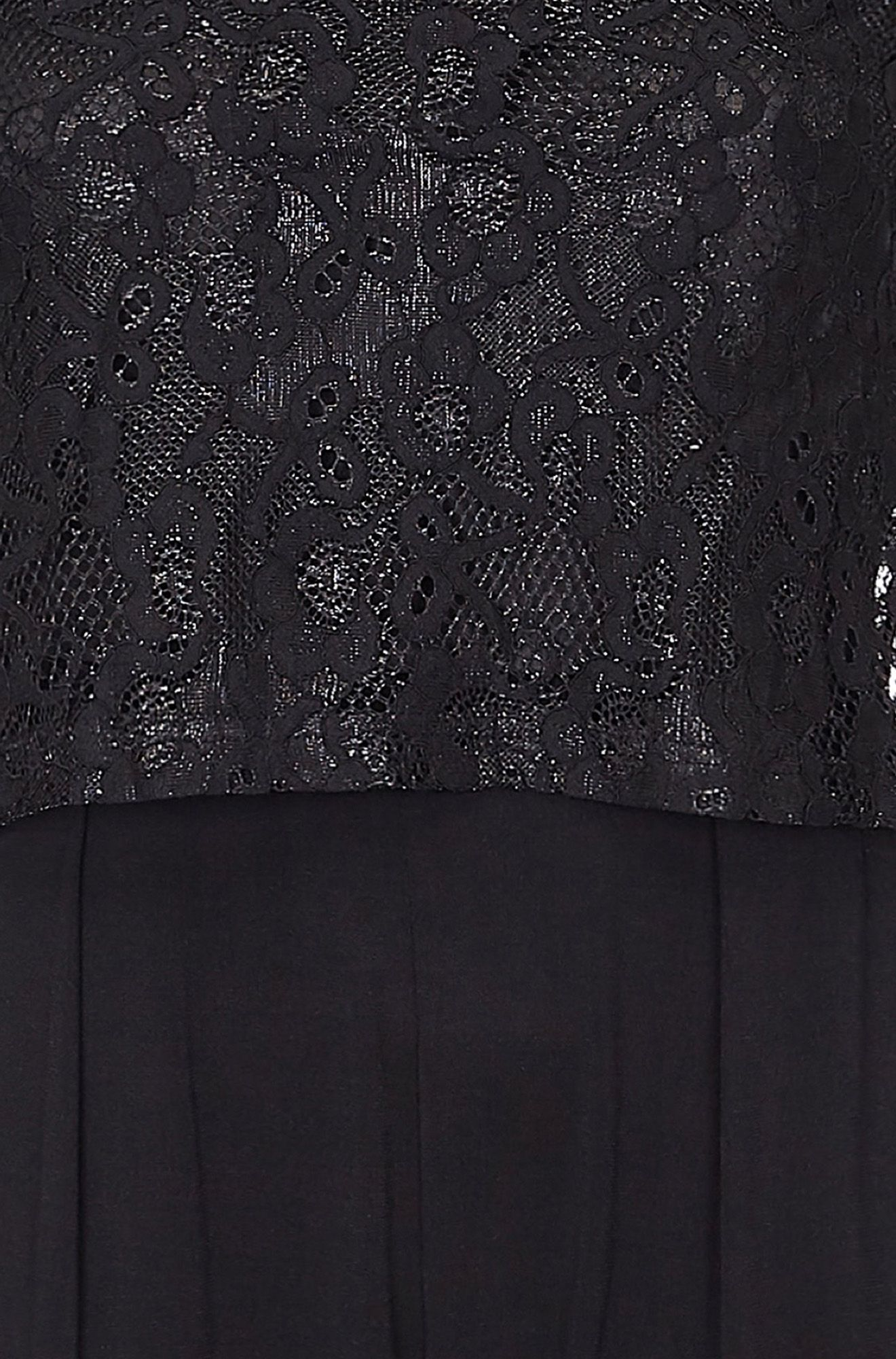 Black Lace Top Overlay Jumpsuit