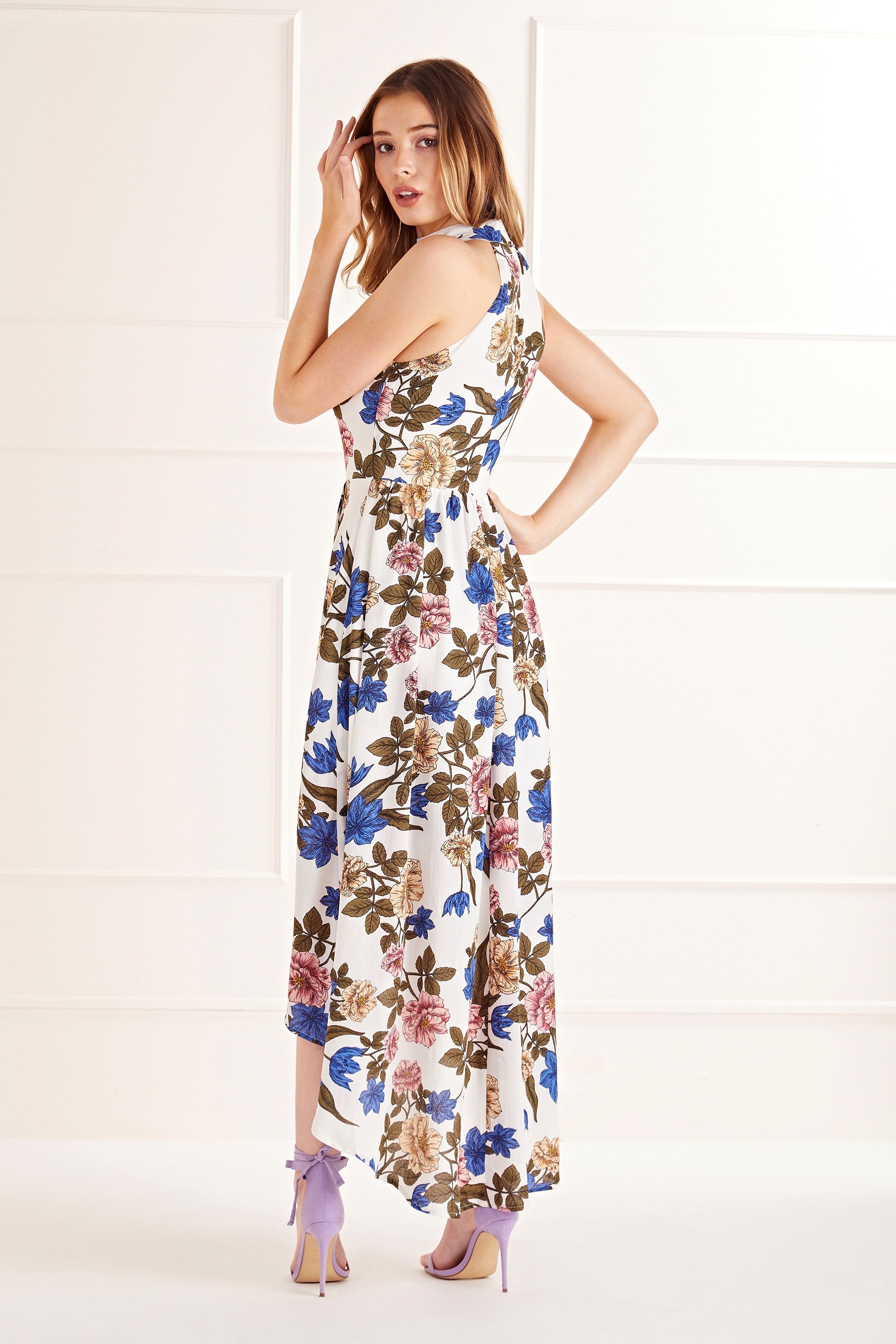 Filtered Floral High Low Dress