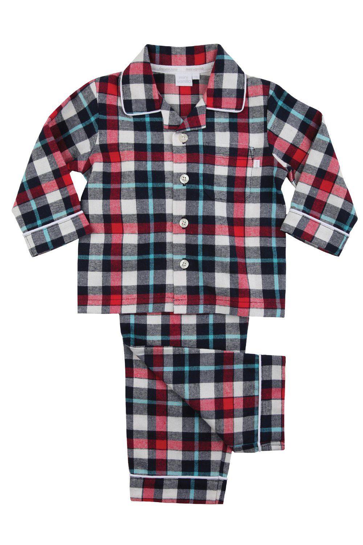 Boys Traditional Red Check Pyjamas