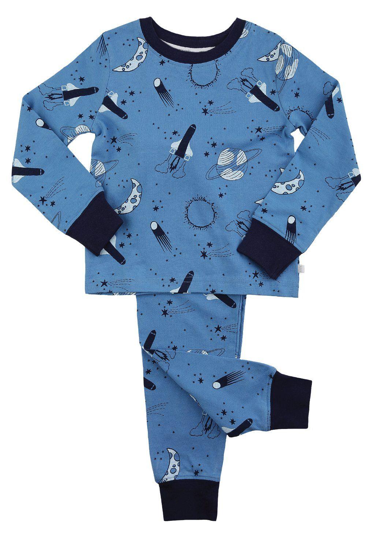 Boys Space Print Skinny Fit Pyjamas